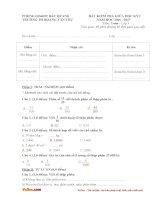 Đề thi giữa học kì 1 lớp 5 môn Toán, Tiếng Việt trường tiểu học Hoàng Văn Thụ, Bắc Quang năm 2016 - 2017