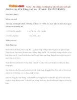 Giải bài tập SGK Tiếng Anh lớp 10 Unit 6: AN EXCURSION
