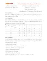 Đề thi học sinh giỏi cấp trường môn Sinh học lớp 10 trường THPT Lý Thái Tổ, Bắc Ninh năm học 2015 - 2016