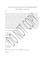 Tài liệu ôn tập thi công chức tỉnh Quảng Nam năm 2016  Tiếng anh đọc hiểu