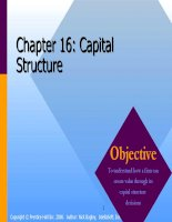 Corporate finance chapter 016 capital structure