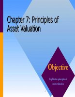 Corporate finance chapter 07 principles of asset valuation