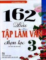 162 bài tập làm văn chọn lọc lớp 3 (tái bản lần thứ hai): Phần 1