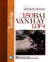 Tuyển tập 150 bài văn hay lớp 4(tái bản lần thứ nhất): Phần 1