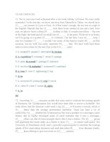 Đáp án câu hỏi tiếng Anh điền từ thi công chức tỉnh Quảng Nam năm 2016