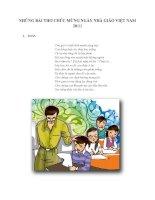 Tổng hợp một số bài thơ cực hay về ngày 20 tháng 11