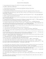 ĐÁP ÁN 200 CÂU TIN HỌC THI CÔNG CHỨC QUẢNG NAM 2016 ( có chú thích)