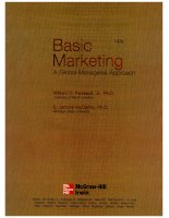 Basic Marketing a global managerial approach william