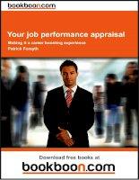 Your job performance appraisal