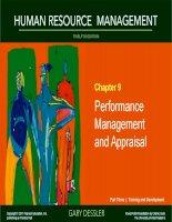 Dessler HRM 12e ch 09 performance management and appaisal