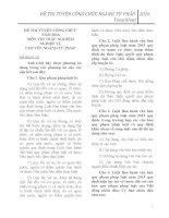 TRỌN BỘ 20 ĐỀ THI CÔNG CHỨC NĂM 2016 CHUYÊN NGÀNH TƯ PHÁP (Trắc nghiệm)