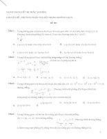 600 bài trắc nghiệm tọa độ không gian đầy đủ