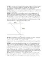 Bài tập vật lý 10 nâng cao