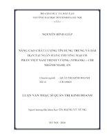 Nâng cao chất lượng tín dụng trung và dài hạn tại Ngân hàng Thương mại Cổ phần Việt Nam Thịnh Vượng (VPBank) - chi nhánh Nghệ An