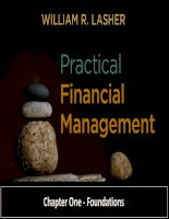 Practical financial manaegment  lasher 7th ed chapter  01 foundattions