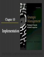 Strategic management planning for domestic and global competition 14th ed  pearce robinson chapter 10