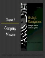 Strategic management planning for domestic and global competition 14th ed  pearce robinson chapter 2