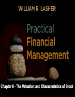 Practical financial manaegment  lasher 7th ed chapter  08