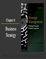 Strategic management planning for domestic and global competition 14th ed  pearce robinson chapter 8