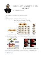 Chủ đề 9. Quy luật phân ly của mendel( lí thuyết và bài tập hướng dẫn giải chi tiết)