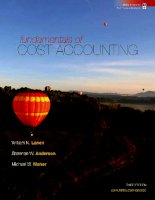 Fundamentals of cost accounting 3e lanne aderson and maher