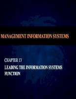 Managing information systems  7th edition brow ch013