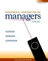 Managerial accounting for managers  eric w  noreen, peter c  brewer ray h  garrison 2nd ed