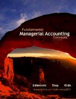 Fundamental managerial accounting concepts 6th ed thomas p  edmonds, bor yi tsay,