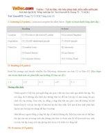 Giải bài tập SGK Tiếng Anh lớp 10: Test Yourself B (Trang 72 - 73 SGK)