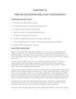 Test bank accounting management 11e chapter 12 PRICING DECISIONS AND COST MANAGEMENT