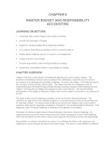 Test bank accounting management 11e chapter 06 MASTER BUDGET AND RESPONSIBILITY ACCOUNTING