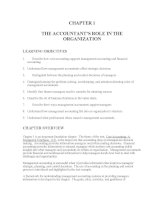 Test bank accounting management 11e chapter 01 THE ACCOUNTANTS ROLE IN THE ORGANIZATION