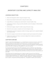 Test bank accounting management 11e chapter 09 INVENTORY COSTING AND CAPACITY ANALYSIS