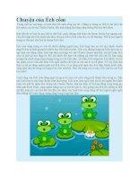 Truyện kể mầm non chuyện của ếch cốm
