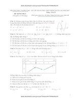 20 đề thi thử toán trắc nghiệm  trắc nghiệm tháng 10 có đáp án