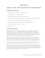 Test bank accounting management 11e chapter 19 QUALITY, TIME, AND THE THEORY OF CONSTRAINTS