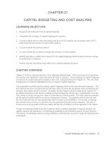 Test bank accounting management 11e chapter 21 CAPITAL BUDGETING AND COST ANALYSIS