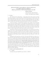 KHẢO SÁT KHẢ NĂNG KHÁNG NẤM FUSARIUM SP. CỦA MỘT CHỦNG XẠ KHUẨN PHÂN LẬP ĐƯỢC TỪ RỪNG NGẬP MẶN CẦN GIỜ