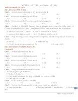 Tổng hợp bài tập trắc nghiệm thể tích, mặt cầu, mặt nón, mặt trụ