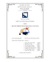 Bài tập nhóm Tài chính doanh nghiệp Quyết định thuê hay mua tài sản