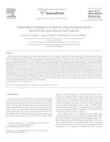 Liquid-Phase Adsorption Of Phenols Using Activated Carbons Derived From Agricultural Waste Material