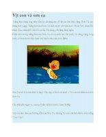 Truyện kể mầm non vịt con và sơn ca
