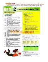 Tiếng Anh lớp 10 Chương trình mới Unit 2: YOUR BODY & YOU