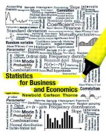 Statistics for business and economics 8th edition newbold carlson THome