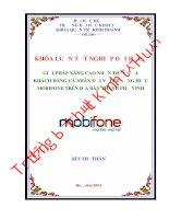 Giải pháp nâng cao nhận thức của khách hàng cá nhân đối với thương hiệu Mobifone trên địa bàn thành phố Vinh