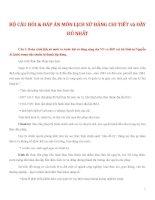 BỘ CÂU HỎI & ĐÁP ÁN MÔN LỊCH SỬ ĐẢNG CHI TIẾT và ĐẦY ĐỦ NHẤT