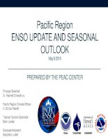 IRC presentation  Pacific Region ENSO UPDATE AND SEASONAL OUTLOOK  May 9 2016