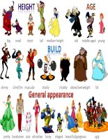 physical description  disney characters pictionary 1