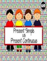 present simple vs present continuous  game