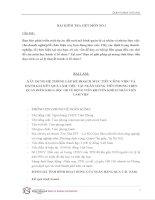 XÂY DỰNG hệ THỐNG lập kế HOẠCH mục TIÊU CÔNG VIỆC và ĐÁNH GIÁ kết QUẢ làm VIỆC tại NGÂN HÀNG TIÊN PHONG